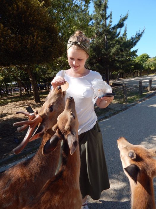 With the deers in Nara