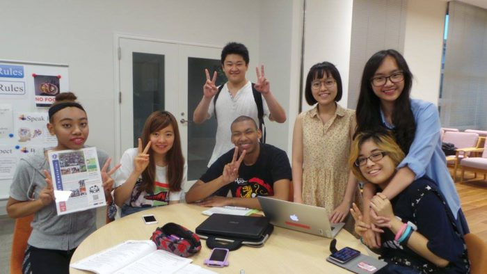 study with Japanese friends
